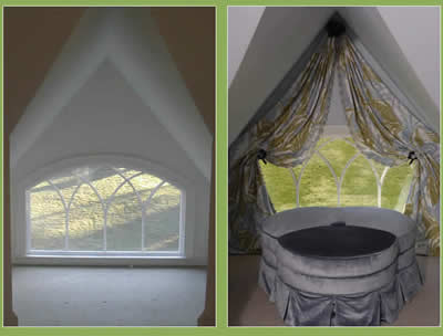 Before and After Custom Window Treatments Gallery